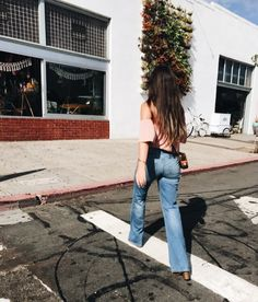 Off the Shoulder Top with High Waisted Denim - San Diego Fashion Blogger: Live By Ronni