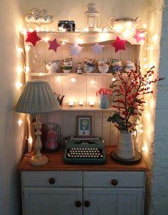 Idea for displaying my old typewriter