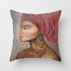 African+bride+Throw+Pillow+by+malgwi+-+%2420.00