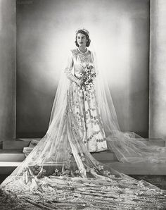 Princess Elizabeth on her wedding day, 1947.