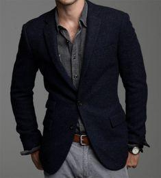 grey chambray with black blazer Gentleman Mode, Gentleman Style, Dapper Gentleman, Mode Masculine, Look Man, Herren Outfit, Mens Fashion Suits, Mens Fashion 40 Year Old, Moda Fashion