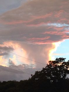 Sky after thunderstorm over my house. 7/22/15
