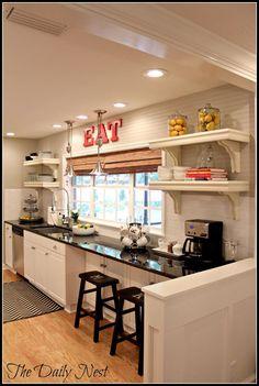 Condo rental renovation 4men1lady diy home improvement half wall white galley kitchensopen solutioingenieria Gallery