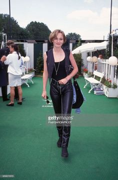 News Photo : Patricia Kaas à Roland Garros en juin 1992 à...