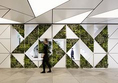 50 Green wall Design Inspiration is a part of our collection for design inspiration series.Green wall Design Inspiration is an inspirational series wall Green wall Design Inspiration - The Architects Diary Corporate Interiors, Office Interiors, Office Interior Design, Interior And Exterior, Cosy Interior, Residence Senior, Vertikal Garden, Industrial Office Space, Architecture Restaurant