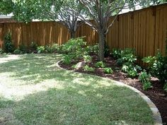 Garden Ideas Along Fence Line bing : yard fence ideas | outside pad | pinterest | backyards, one