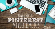 I loved Pinterest so much that I turned it into a full-time job. I'm able to stay at home with my kids and work 10-20 hours a week making a full time salary