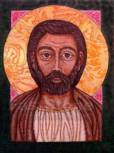 Saint Joseph Sacred Art Icon Print by ArtoftheSacred on Etsy