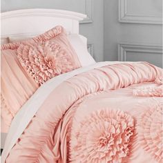 Better Homes and Gardens Ruffled Flowers Bedding Comforter Set Image 2 of 2