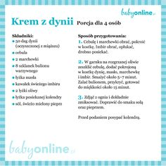 Przepis na pyszny krem z dyni Baby Food Recipes, Healthy Recipes, Vogue Kids, Cooking With Kids, Auntie, Diet, Food, Bebe, Kitchens
