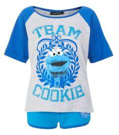 Teens Blue Cookie Monster Pyjama Top, mum, Christmas is coming you know!!!!!!!!!!!!!!!!!!!!!!!!!!