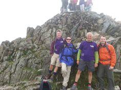 Robert, Ben and Simon - three of our amazing Snowdon climbers with our Chairman, Simon Knighton