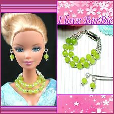 handmade barbie doll jewelry set accessories necklace earrings for barbie dolls