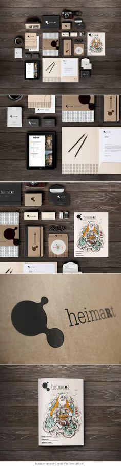 logo corporate branding visual graphic identity kraft paper design business card label black white print sticker minimal stamp magazine