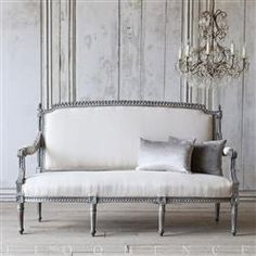 Eloquence One of a Kind Vintage Louis XVI French Style Settee Eclectic Furniture, French Furniture, Ikea Furniture, Rustic Furniture, Deco Furniture, Funky Furniture, Classic Furniture, Furniture Online, White Furniture