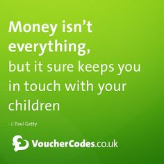 Money and children