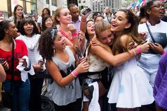Ariana Grande with Fans on The Today Show.