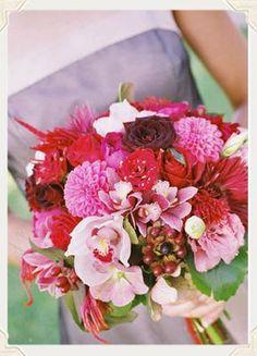 deep red/pink boquet