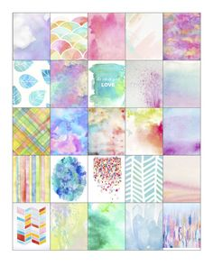 FREE Pastel Watercolor Erin Condren Life Planner Full Square Boxes Free Download