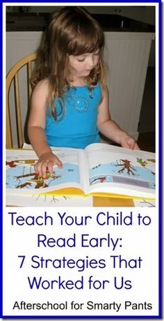 How to Teach Your Child to Read - How to Teach Your Child To Read Early from Afterschool for Smarty Pants Give Your Child a Head Start, and.Pave the Way for a Bright, Successful Future. Early Reading, Kids Reading, Reading Activities, Reading Skills, Teaching Reading, Teaching Kids, Reading Resources, Free Reading, Preschool Activities