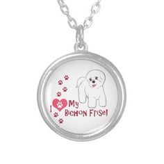 I Love My Bichon Frise! Custom Necklace #dogs #puppies #pets #animals #bichonfrise