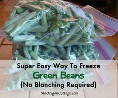 How To Freeze Green Beans Without Blanching