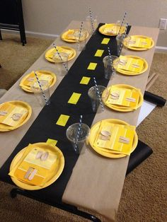 Construction Party Ideas | Table Setting