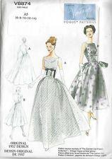 1957 Vintage VOGUE Sewing Pattern B30 1/2-31 1/2-32 1/2-34-36 DRESS (R950) eby