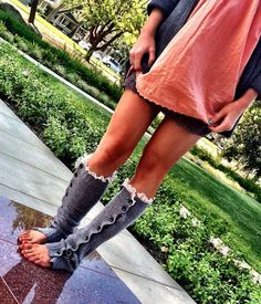 Button Leg Warmers Slouchy Button Up Boot Socks
