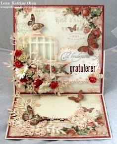 by Lena Katrine... I LOVE how she carries her die-cut labels from the front, to the inside and on to even the back of her cards!