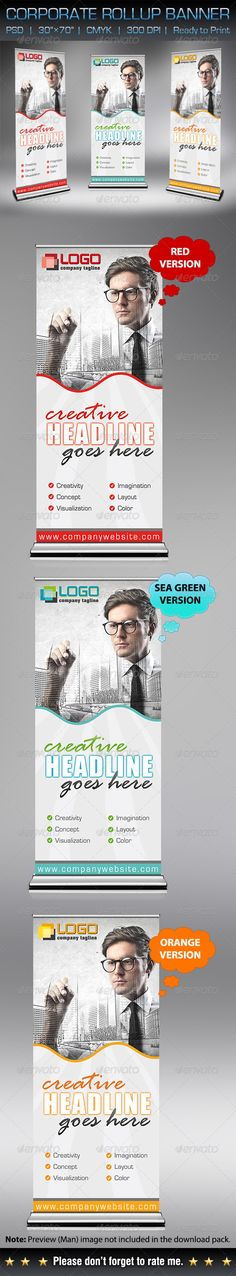 Multipurpose Corporate Roll-Up Banner Template PSD. Download here: http://graphicriver.net/item/multipurpose-corporate-rollup-banner/5906101?s_rank=1787&ref=yinkira