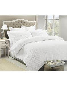 White Home Alexa Duvet Cover Set product photo