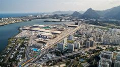 Aerial view of Barra Olympic Park. With an area of 1.18 million square metres, Barra Olympic Park will host 16 Olympic sports and nine Paralympic sports, along with the Main Press Centre and the International Broadcast Centre.  Photo: Gabriel Heusi/Brasil2016.gov.br