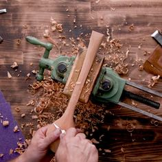 the spoke shave to the sandpaper, carving a spoon is one of the most satisfying woodworking projects possible.From the spoke shave to the sandpaper, carving a spoon is one of the most satisfying woodworking projects possible. Woodworking Projects Diy, Diy Wood Projects, Woodworking Plans, Wood Crafts, Fun Crafts, Diy And Crafts, Woodworking Furniture, Woodworking Square, Woodworking Shop