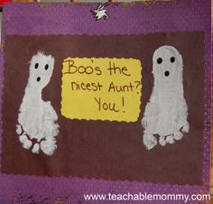 Fall Crafts, Foot Print Craft, Halloween Craft