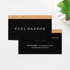Mbc 401 new business cards pinterest business cards and business simple faux cork print business card reheart Images