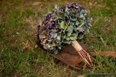 Purple and Green Antique Hydrangea Bouquet - The French Bouquet and Petite Fleur - Artworks Tulsa Photography