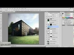 ▶ How to make an Exterior,Photoshop Post-Production 3ds max tutorial by omer kako - YouTube