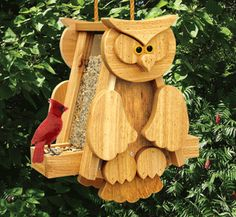 Cedar Eagle and Owl Birdfeeder Patterns