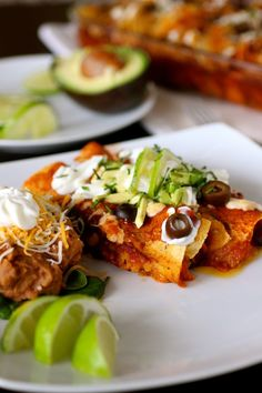 Sweet Potato and Black Bean Enchiladas! This is a great starter recipe for a Cinco de Mayo meal. Instead of using prepared salsa, cut up a little fresh jalapeno (no seeds or ribs), some cherry/grape tomatoes, lime juice and fresh cilantro. A heaping scoop of that in the filling would put this over the top. -CanCan