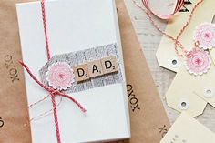 scrabble tile gift tag