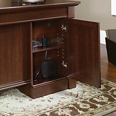"Sauder® Palladia Collection Executive Desk, 29 3/5""H x 65 1/8""W x 29 1/2""D, Select Cherry"