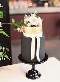 "We love this unusual colour choice for a wedding cake. ""We wanted the wedding to be simple with luxe touches. We did that with this decadent Curtis & Co cake, which was decorated with black icing and gold leaf,"" Ashlee explains. A tale of two weddings. Home and away: this real couple celebrated their marriage abroad in Spain and at home in the UK. Click through to see the rest of the gallery."