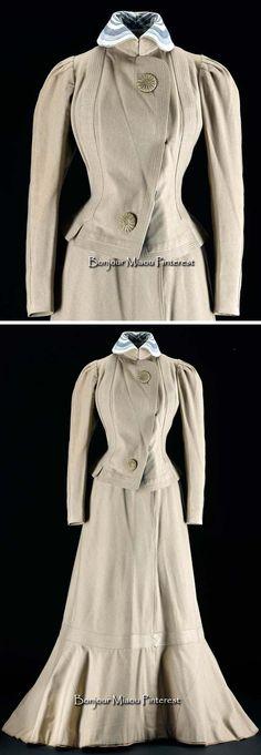 Walking suit, Paris, ca. 1902. Woman's short, mid-hip length jacket of light…