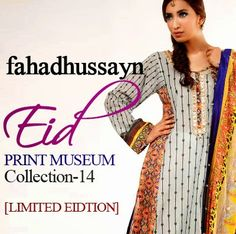 Fahad Hussain – Print Museum Limited Lawn Collection 2014 - She9 | Change the Life Style