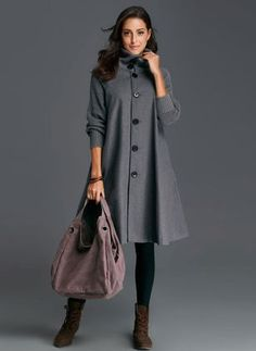 Long Sleeve Other Buttons Duffle Coats Latest Fashion For Women, Latest Fashion Trends, Womens Fashion, Duffle, Affordable Clothes, Women's Fashion Dresses, Coats For Women, Wrap Dress, Buttons