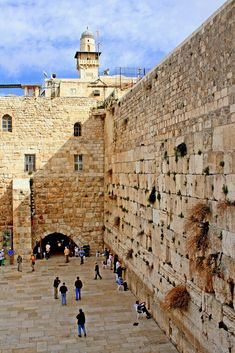 The Wailing Wall aka Kotel in Old City of Jerusalem