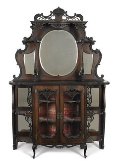Victorian carved mahogany étagère, h. Victorian Furniture, Antique Furniture, Types Of Furniture, Cabin Homes, Furniture Inspiration, Victorian Era, Woodworking, Carving, Wood Work