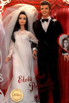 Elvis and Priscilla (I swear the Priscilla doll looks like Asia DeVinyl)