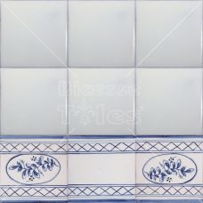 25 TB10 Talavera Decorative Border Tile In Blue/White 4x4 (Shipping  Included) | Beautiful, 4x4 Und Mosaik